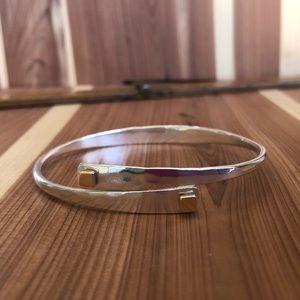 Jewelry - Square swing bracelet- sterling silver & 14k gold